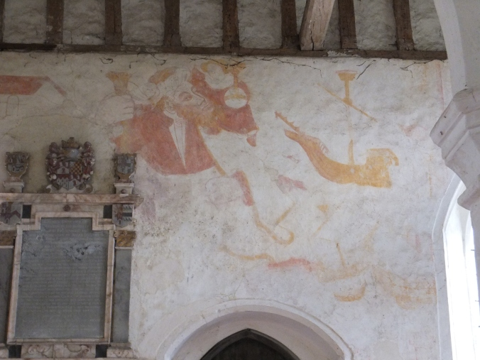 St Christopher Wall Painting at Albury