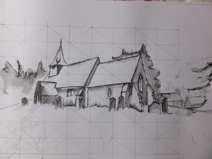 Snow Painting Sketch