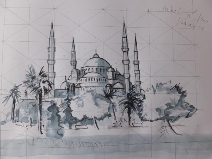 Blue Mosque Sketch