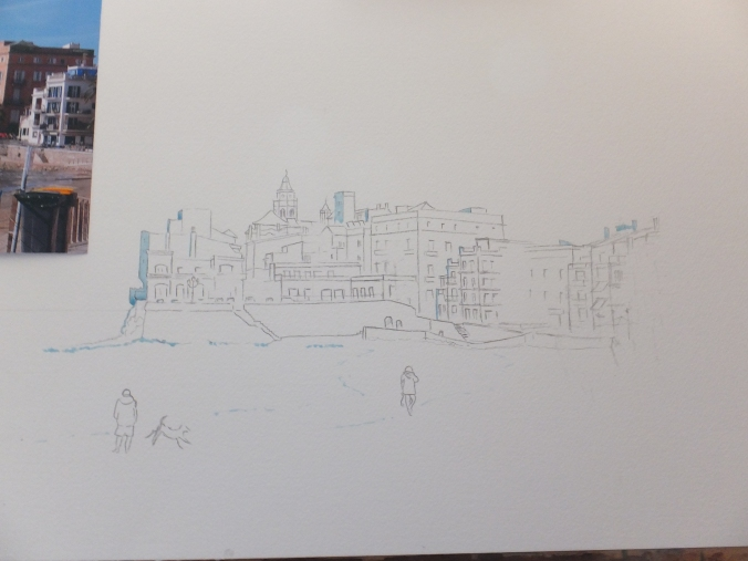 Transferred Drawing of Sitges