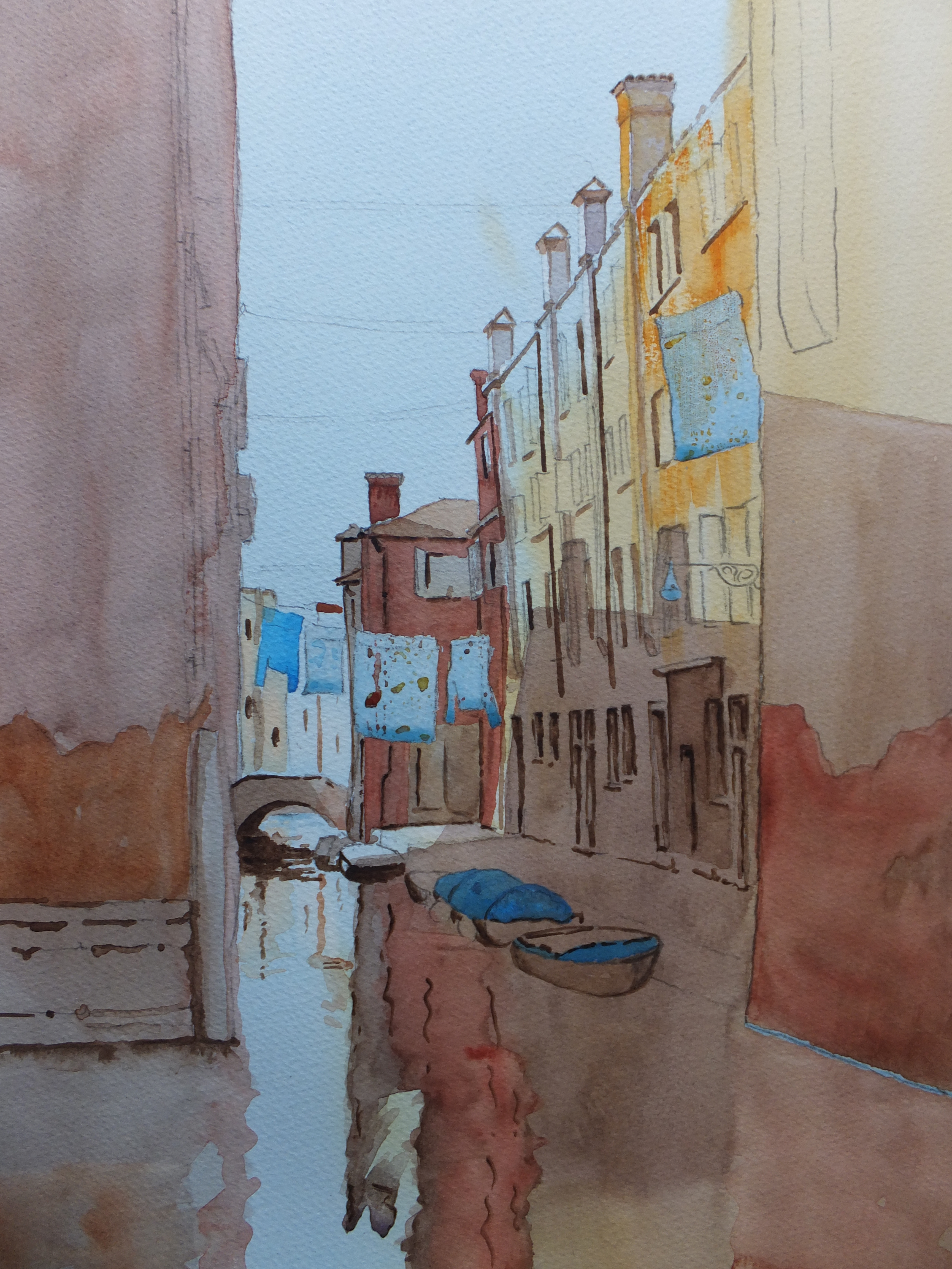 Venice Painting Halfway
