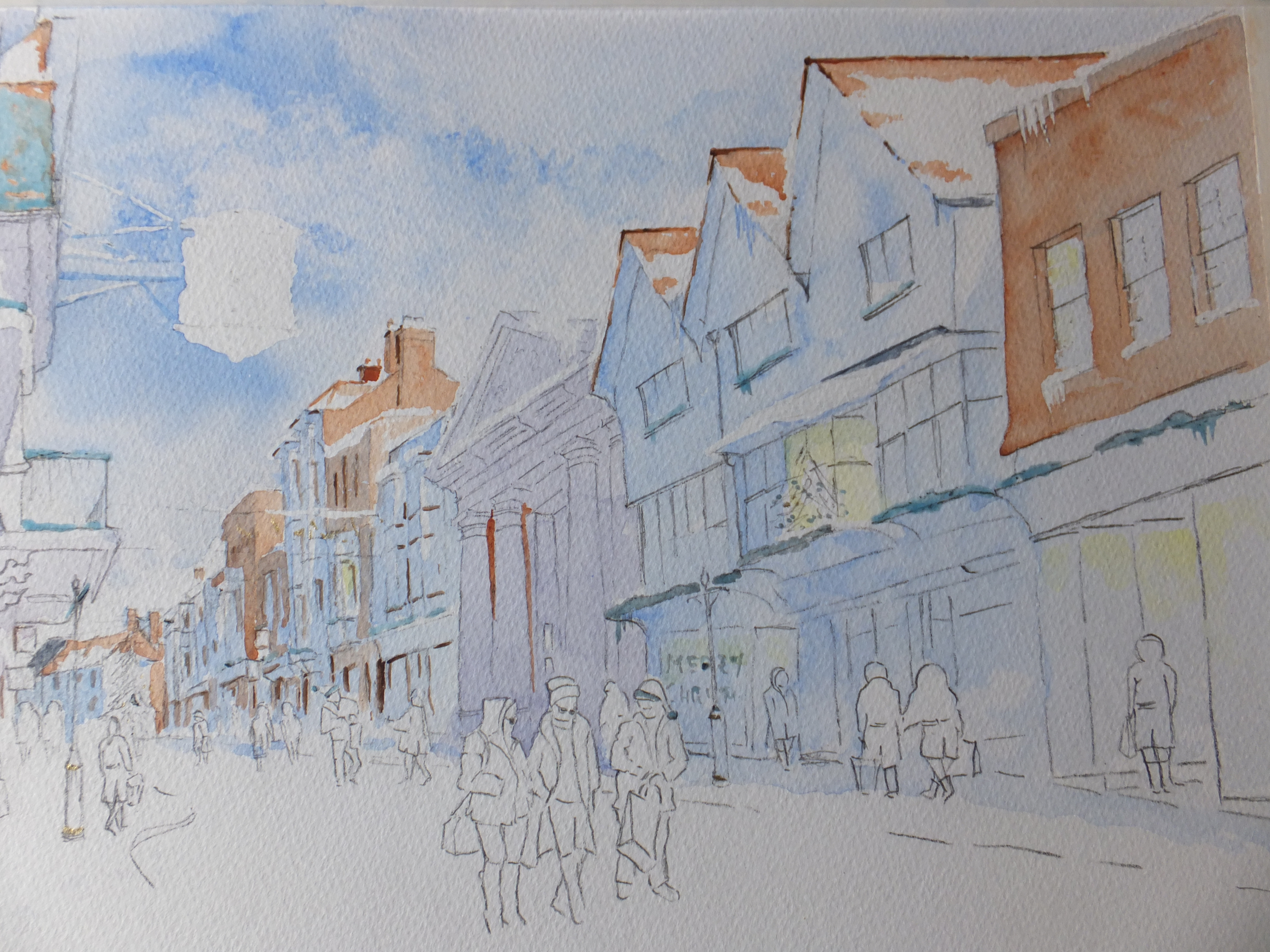 Winter Street Scene Interim