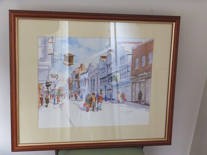 christmas-shopping-in-guildford-high-street-framed