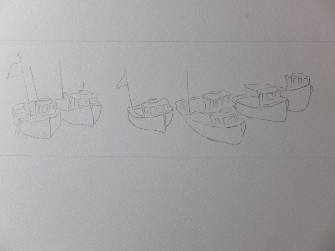 Boats at Beer Drawing