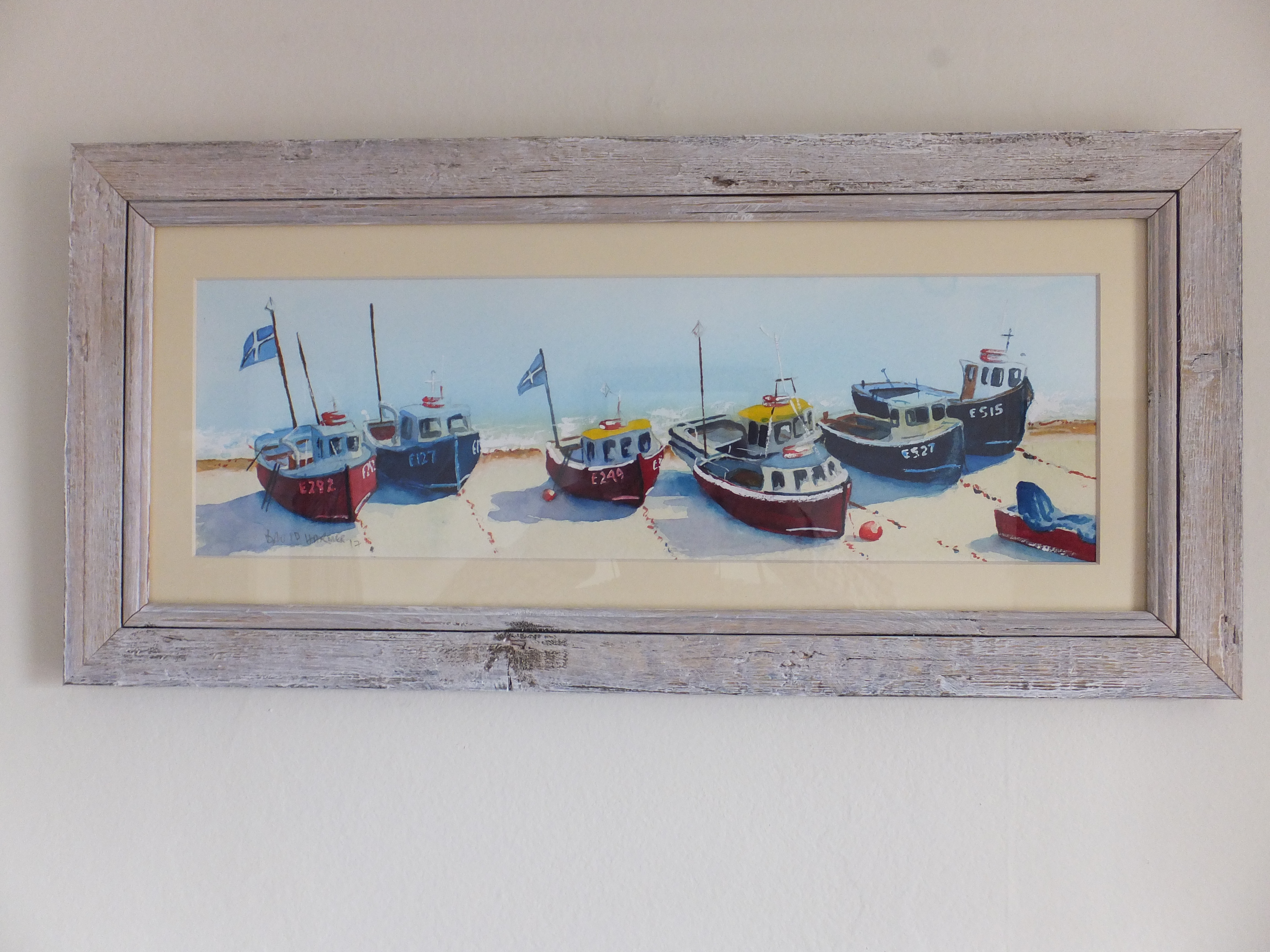 Fishing Boats at Beer Framed