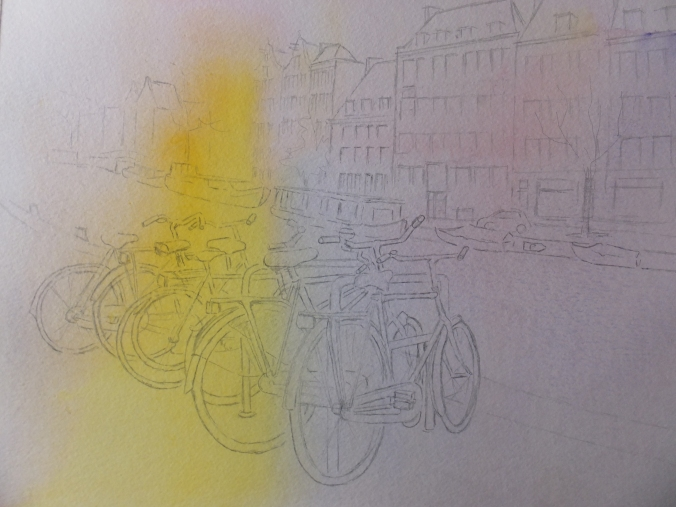 Bikes and Canals Base Coat