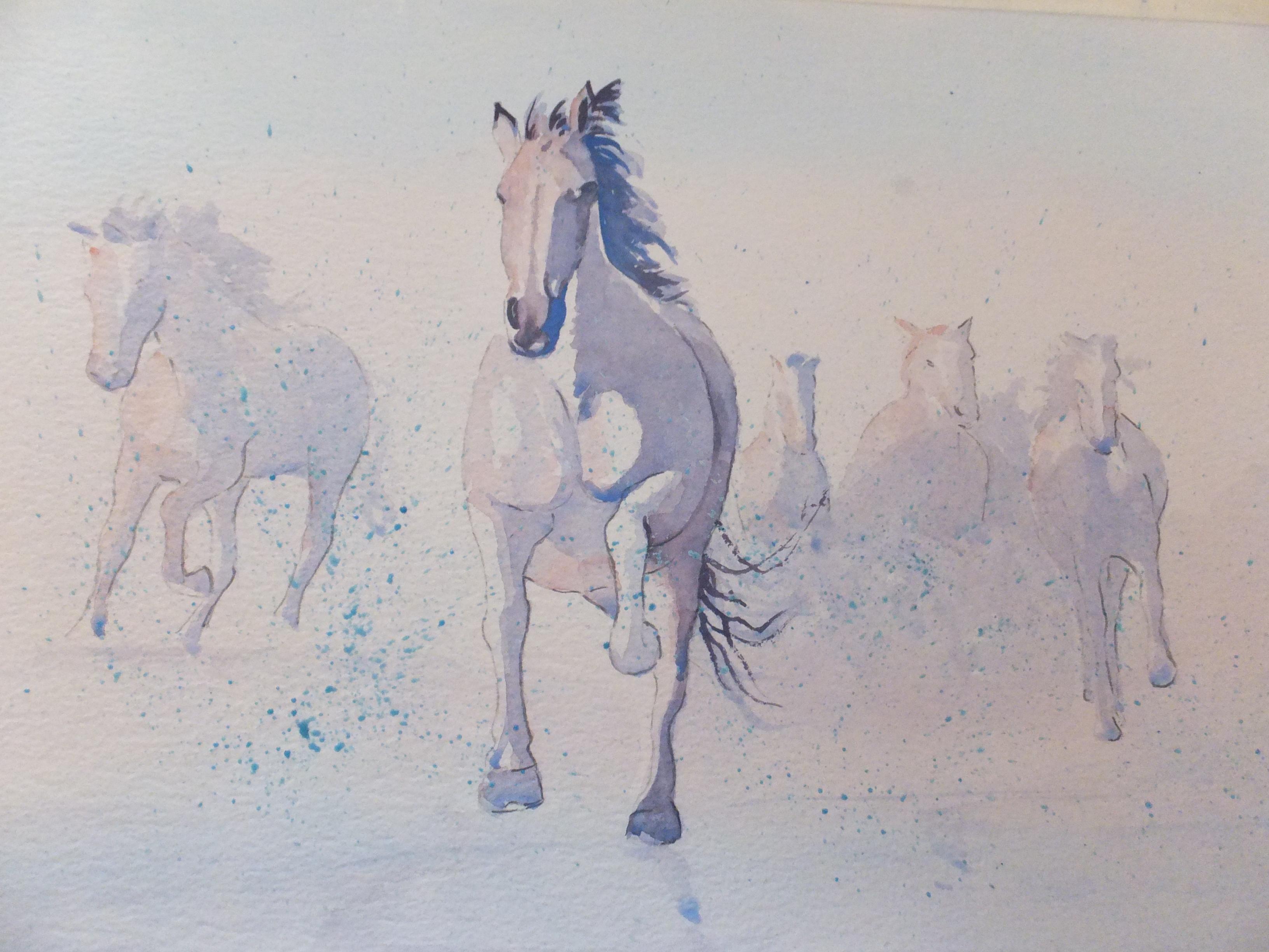 Galloping Horses Partway